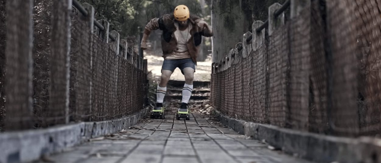 ジムニーがローラースケートに!